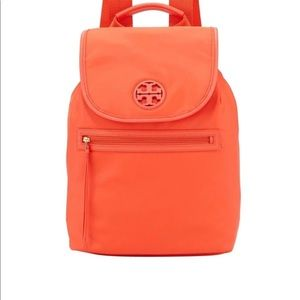 Tory Burch Flap-top Coral Orange Backpack